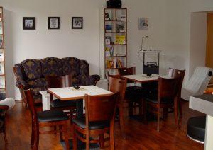 Innenansicht Literaturcafé, kurz nach dem Umbau