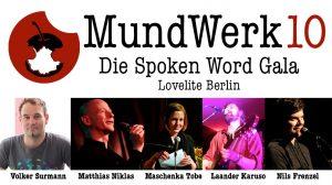 MundWerk 10 – Die Spoken Word Gala @ Lovelite Berlin