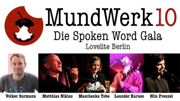 MundWerk 10 – Die Spoken Word Gala
