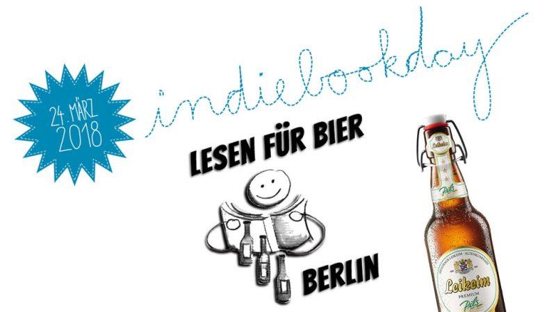 Lesen für Bier am Indiebookday