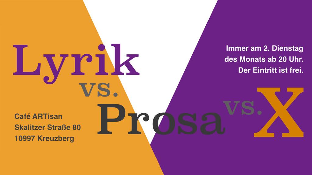 Lesebühne SchlesiPoesie: Lyrik vs. Prosa mit Maschenka Tobe und Alex Wolf