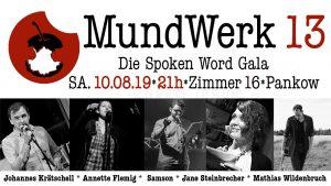MundWerk 13 – Die MundWerk Spoken Word Gala @ Zimmer 16 Berlin