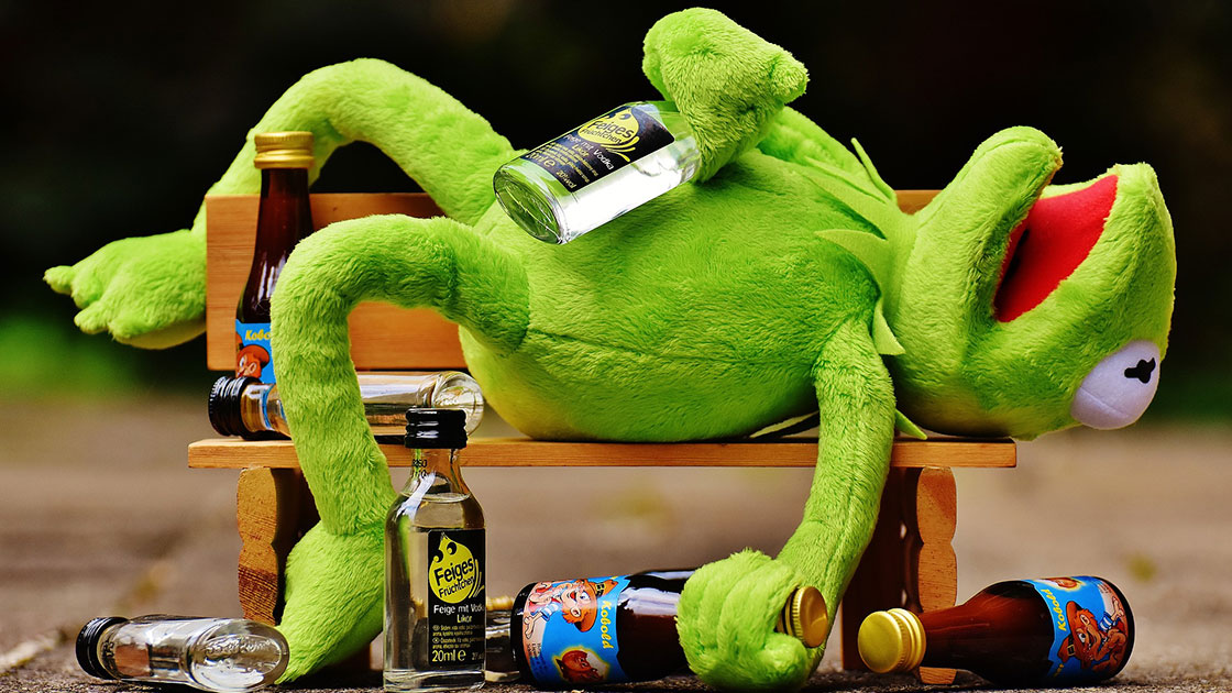 betrunkener Frosch