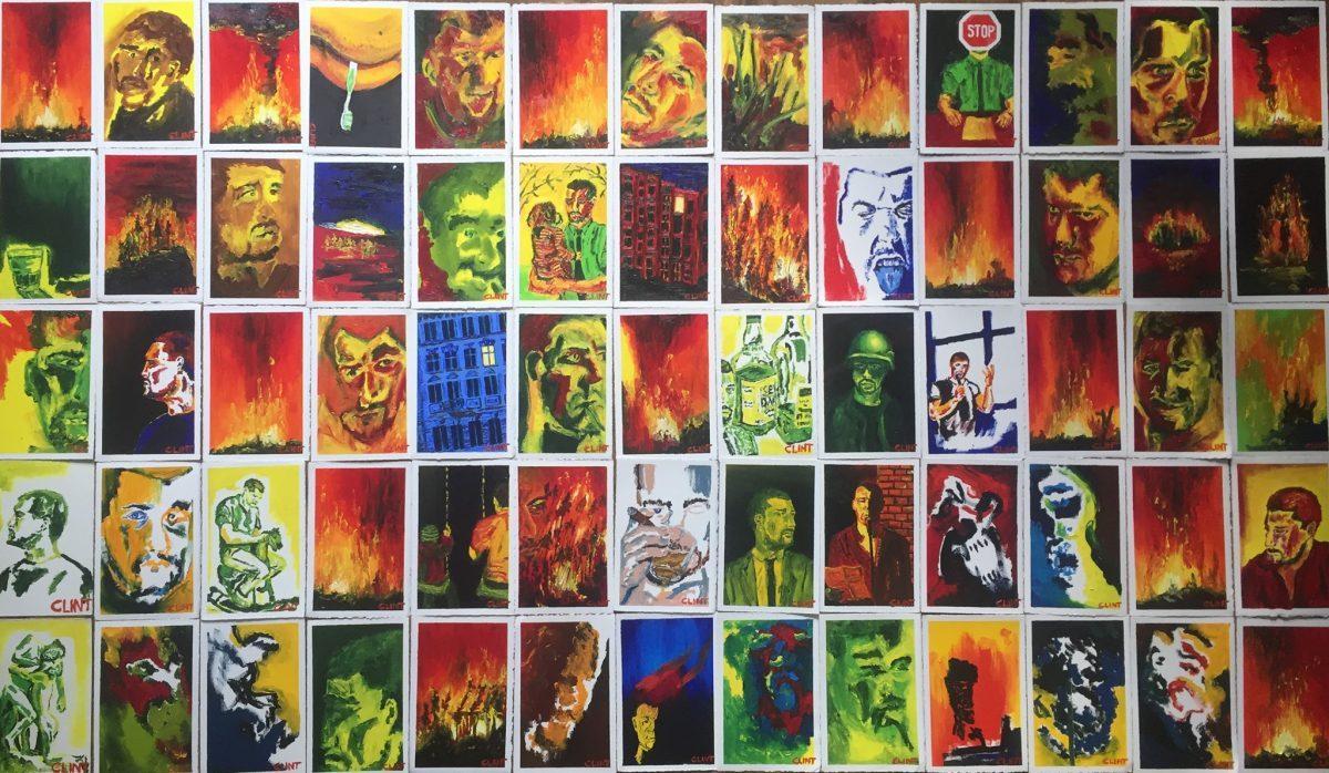 """Clint Lukas """"Mit dem Rücken zum Brand"""" Bilder"""