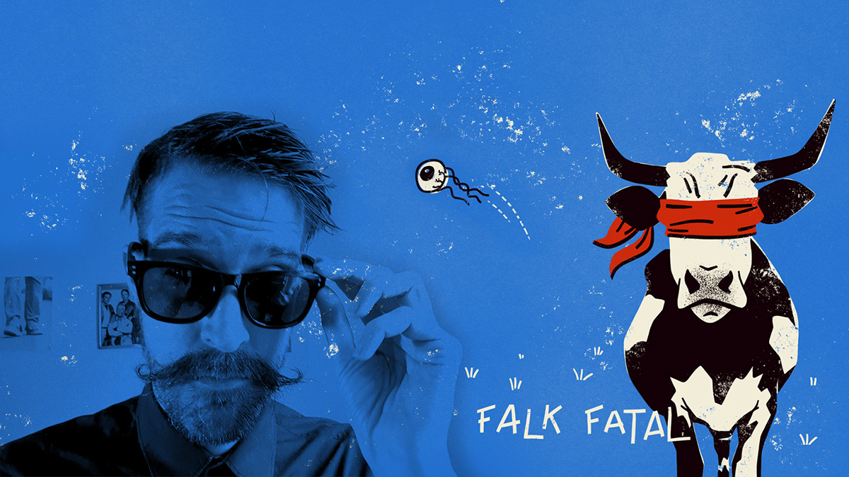 Falk Fatal spielt Blinde Kuh